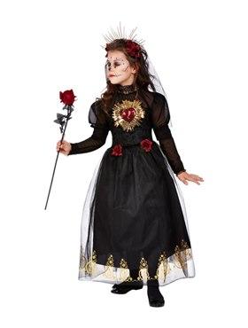 Child Deluxe DOTD Sacred Heart Bride Costume - Back View