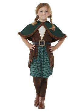 Child Deluxe Forest Archer Costume - Back View