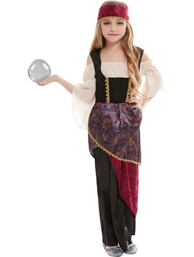 Child Deluxe The Greatest Showman Fortune Teller Costume - Back View