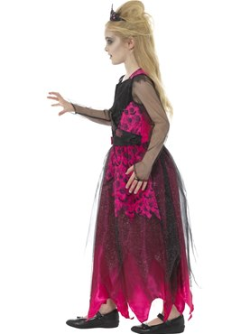 Child Deluxe Gothic Prom Queen Costume - Back View
