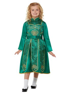 Child Deluxe Irish Dancer Costume - Back View