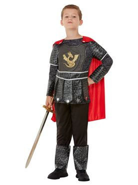 Child Deluxe Knight Costume - Back View