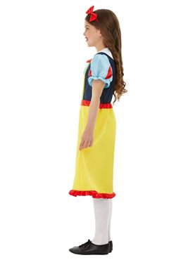 Child Deluxe Princess Snow Costume - Side View