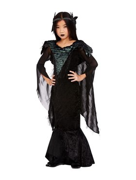 Child Deluxe Raven Princess Costume - Back View