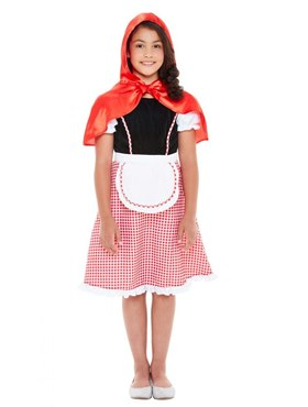 Child Deluxe Red Riding Hood Costume - Back View