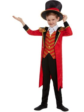 Child Deluxe The Greatest Showman Ringmaster Costume - Back View