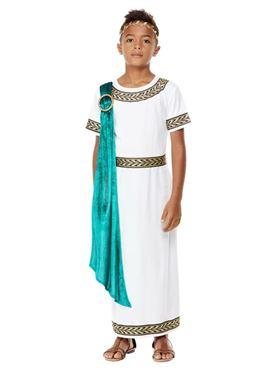 Child Deluxe Roman Empire Emporer Toga Costume - Back View