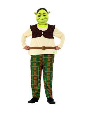 Child Deluxe Shrek Costume - Back View