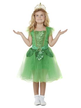 Child Deluxe St Patrick's Day Glitter Fairy Costume - Back View