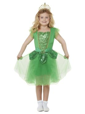 Child Deluxe St Patrick's Day Glitter Fairy Costume