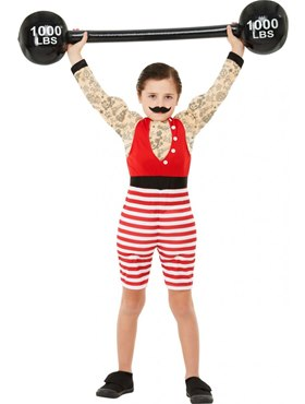 Child Deluxe The Greatest Showman Strong Boy Costume - Back View
