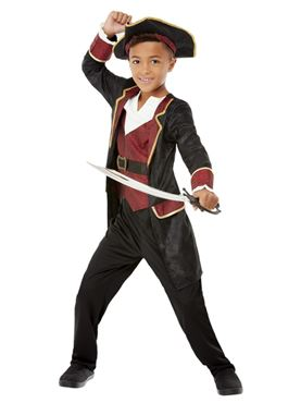Child Deluxe Swashbuckler Pirate Costume - Back View