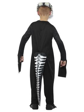 Child Deluxe T-Rex Skeleton Costume - Side View