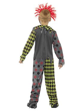 Child Deluxe Twisted Clown Costume - Side View