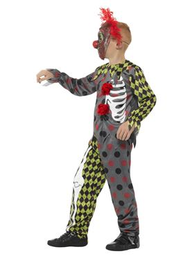 Child Deluxe Twisted Clown Costume - Back View