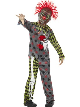 Child Deluxe Twisted Clown Costume
