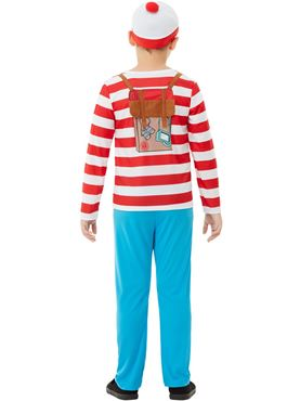 Child Deluxe Where's Wally Costume - Back View