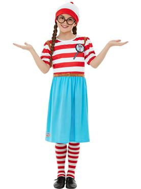 Child Deluxe Where's Wally Costume Couples Costume
