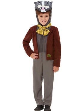 Child Deluxe Wind in the Willows Badger Costume Couples Costume