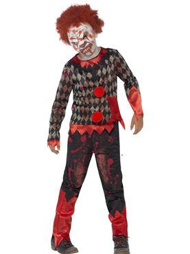 Child Deluxe Zombie Clown Costume Couples Costume