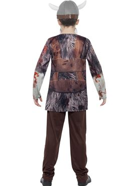 Child Deluxe Zombie Viking Costume - Side View