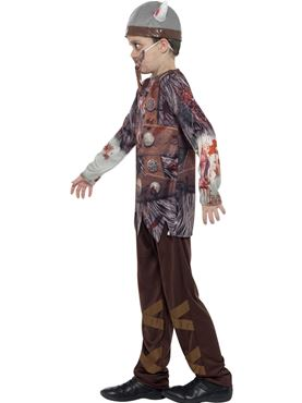 Child Deluxe Zombie Viking Costume - Back View