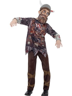 Child Deluxe Zombie Viking Costume
