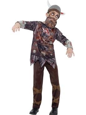 Child Deluxe Zombie Viking Costume