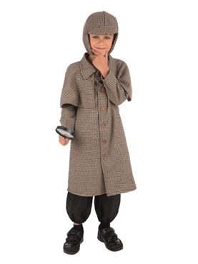 Child Detective Boy Long Costume