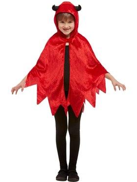 Child Devil Hooded Cape