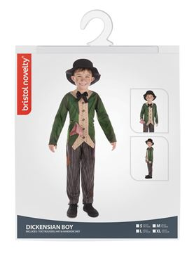 Child Dickensian Boy Costume - Side View