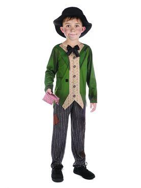 Child Dickensian Boy Costume - Back View