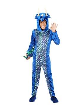 Child Dinosaur Onesie Costume - Back View