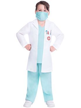 Child Doctor Scrubs Costume - Back View