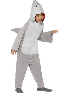 Child Shark Onesie Costume - Back View