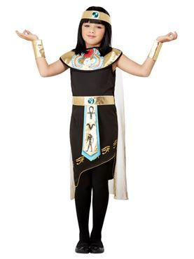 Child Egyptian Princess Costume - Back View