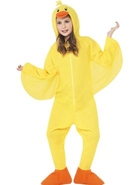 Child Duck Onesie Costume - Back View