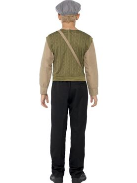 Child Evacuee Boy Costume - Side View