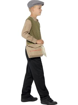 Child Evacuee Boy Costume - Back View