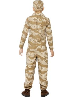 Child Desert Army Costume - Side View