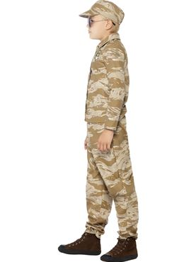 Child Desert Army Costume - Back View
