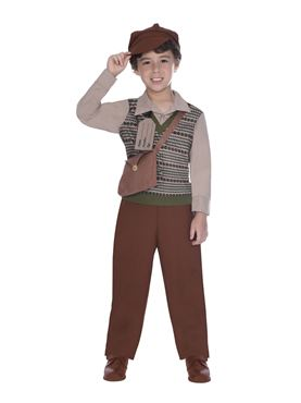 Child Evacuee School Boy Costume Couples Costume
