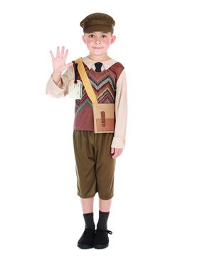 Child Evacuee Schoolboy Costume