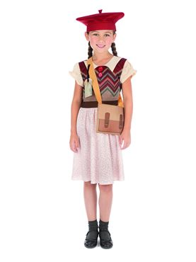 Child Evacuee Schoolgirl Costume Couples Costume