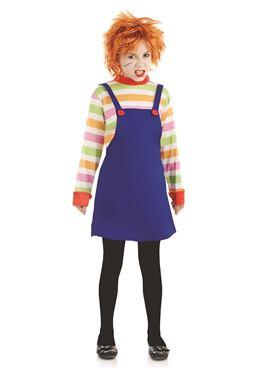 Child Evil Dummy Girl Costume