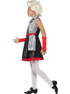 Child Evil Little Madame Costume - Back View