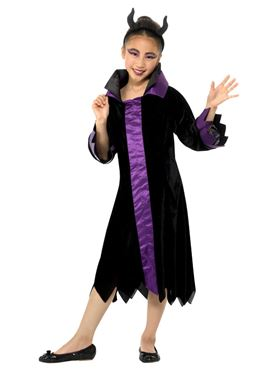 Child Evil Queen Costume - Side View