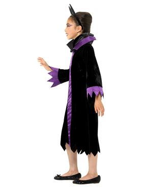 Child Evil Queen Costume - Back View