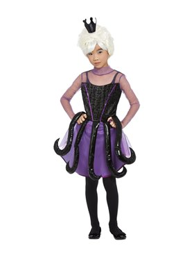 Child Evil Sea Witch Costume - Back View