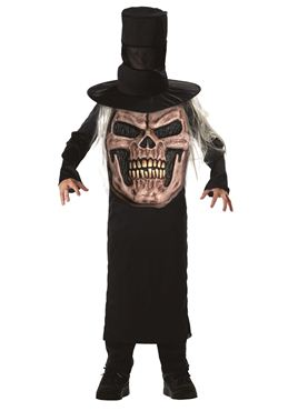 Child Evil Skull Mad Hatter Costume